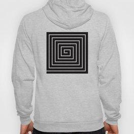 Black White Spiral Hoody