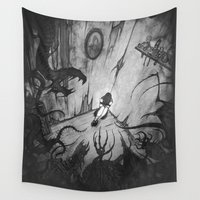 monsters Wall Tapestries featuring Monsters by Michael Brack