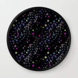Magic Stars, Stardust, Midnight Black Wall Clock