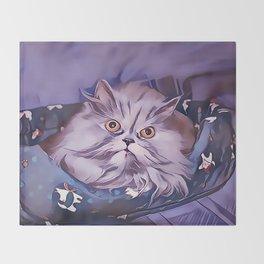 The Persian Cat Throw Blanket