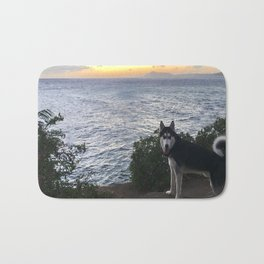 Wolfie the Siberian Husky No.2 Bath Mat