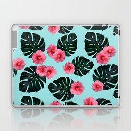 Tropical pattern n.1 - pale blue Laptop & iPad Skin