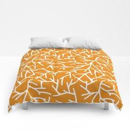 Branches - Orange Comforters