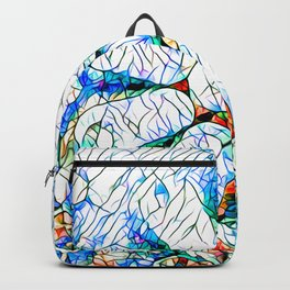Glass stain mosaic 6 - octa - by Brian Vegas Backpack