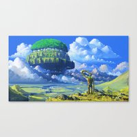 castle in the sky Canvas Prints featuring Castle in the sky by Roberto Nieto