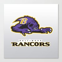 nfl Canvas Prints featuring Baltimore Rancors - NFL by Steven Klock