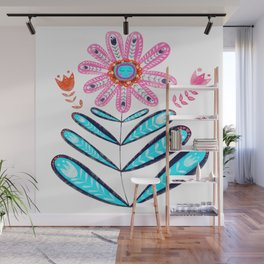 """Folk Art Flower from """"Gyspsy Collection"""" Wall Mural"""