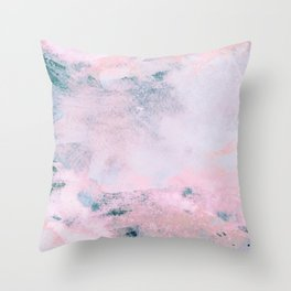 Navy Pink Watercolor Throw Pillow