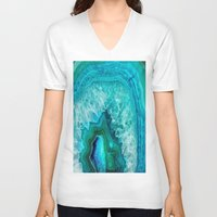 geode V-neck T-shirts featuring Geode by Jenna Davis Designs
