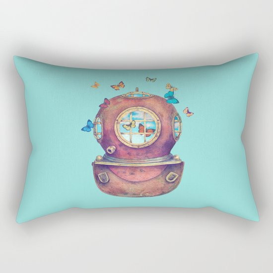 Inner Space - colour option Rectangular Pillow