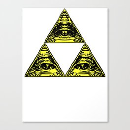 all seeing triforce Canvas Print