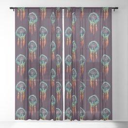 Dream Catcher (the rustic magic) Sheer Curtain