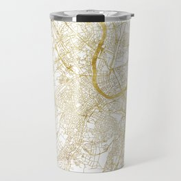 Basel Map Gold Travel Mug