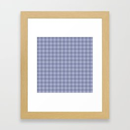 Blue gray simple plaid patterns . Framed Art Print