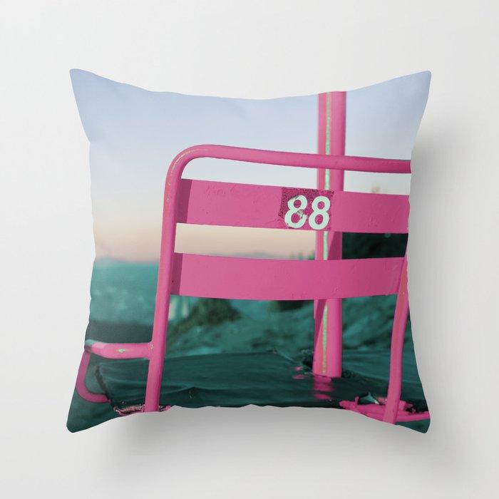 Pop Art 80's Chair Lift Throw Pillow