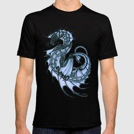 """Tsunami"" by Amber Marine ~ Sea Dragon (Ice Blue Version) ~ Graphite Illustration, (Copyright 2005) T-shirt"