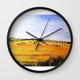 Field of Hay Bales, Aberdeen Wall Clock