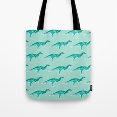 D for Dinosaur Origami Tote Bag