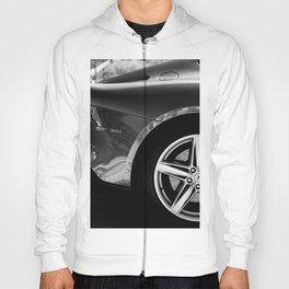 Super Car // Sexy Wheel Base Low Rims Dark Charcol Gray Black and White Hoody