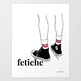 fetiche #1 (white) Art Print