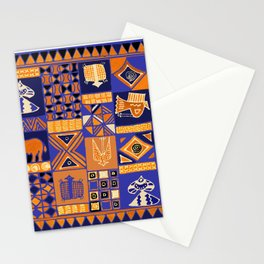 African Batik Collage Stationery Cards
