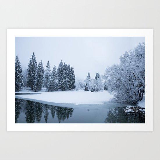 Silently Art Print