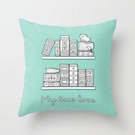My true Love_Fresh Mint Throw Pillow