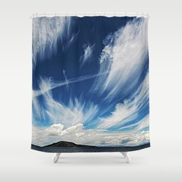 Sky and Clouds at Lake Titicaca Peru - Bolivia in the Andes Mountains Photograph Shower Curtain