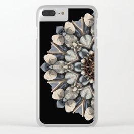 Driftwood Mandala 1 Clear iPhone Case