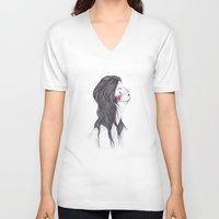 marina V-neck T-shirts featuring Marina. by Marina Guiu