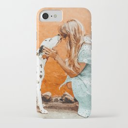 Pet Bound #pets #animals #animalslover #painting iPhone Case
