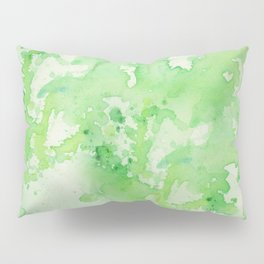 paint splatters in shades of green Pillow Sham
