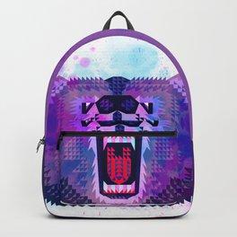 Lilac Geometric Bear Backpack