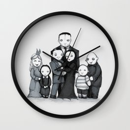 Spooky Plushie Family Wall Clock