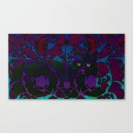 Art Nouveau Visible Cat Canvas Print