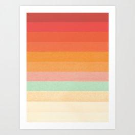 Rainbow Chevrons II Art Print