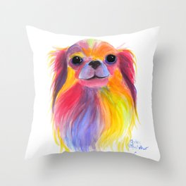 Nosey Dog Chihuahua ' TiLLY ToTS ' by Shirley MacArthur Throw Pillow