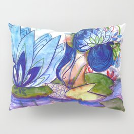 The blue lily water Pillow Sham