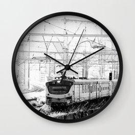 Clackety clack on the railway line Wall Clock