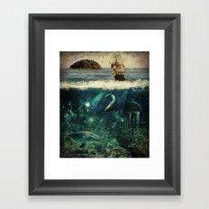 Water World Fantasy Scenery Framed Art Print
