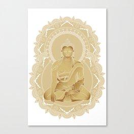 Gold buddha Canvas Print