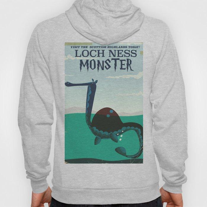 Loch Ness Monster vintage 'children's book' travel poster Hoody