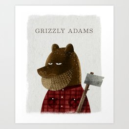 Grizzly Adams Art Print