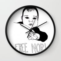 nori Wall Clocks featuring FREE NORI by mememolly