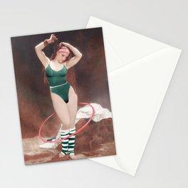 AEROBIC GIRL Stationery Cards