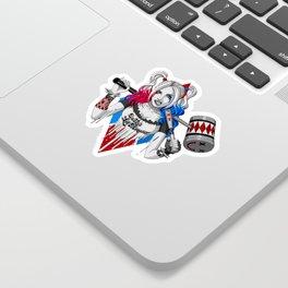 Harley Quinn Armed Sticker