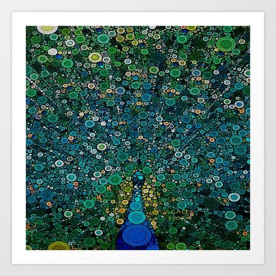 :: Peacock Caper :: Art Print