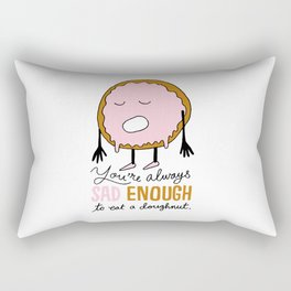 Sad Doughnut Rectangular Pillow