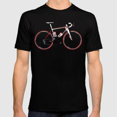 Race Bike MEDIUM Mens Fitted Tee Black