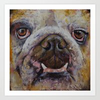 bulldog Art Prints featuring Bulldog by Michael Creese